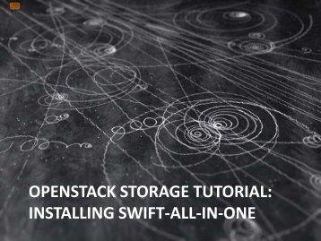 openstack storage tutorial: installing swift-all-in-one