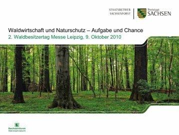 Waldwirtschaft und Naturschutz – Aufgabe und Chance