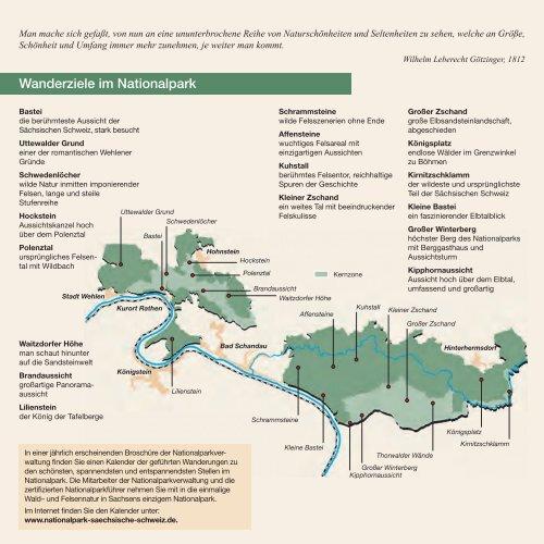 Das Naturerbe bewahren Bizarre Felsen - Nationalpark Sächsische ...