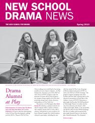 Drama Alumni at Play - The New School