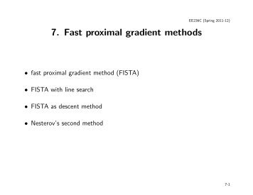 7. Fast proximal gradient methods
