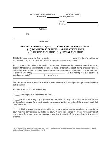 Violation of injunction against dating vio