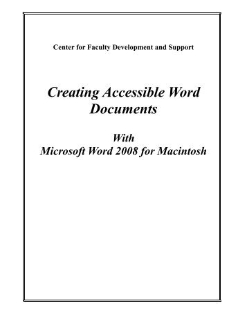 creating accessible documents word and pdf
