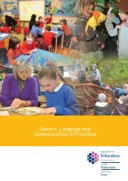 Speech, Language and Communication Difficulties - Department of ...