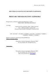 PRZETARG NIEOGRANICZONY: KZP/03/2013
