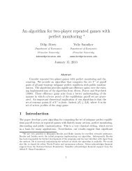 An algorithm for two-player repeated games with - Theoretical ...