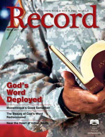 God's Word Deployed - American Bible Society Record ONLINE