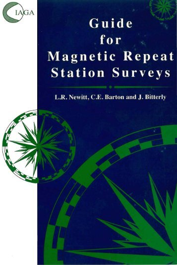 IAGA Guide for Magnetic Repeat Station Surveys - BCMT