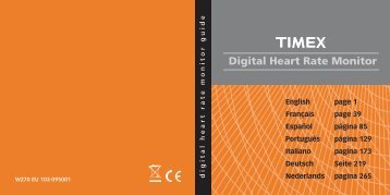 Digital Heart Rate Monitor - user - Timex.com assets