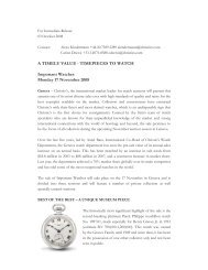 A TIMELY VALUE - TIMEPIECES TO WATCH Important ... - Christie's