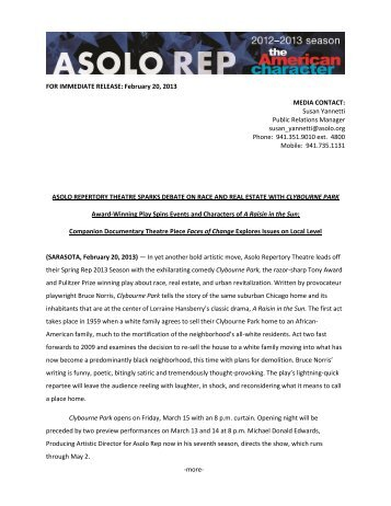 FOR IMMEDIATE RELEASE: February 20, 2013 MEDIA CONTACT ...