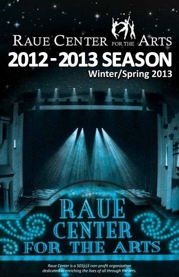 2012RaueProgram_WinSpr(15) - Raue Center for the Arts