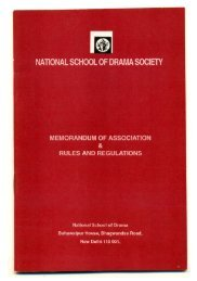 to View Rules and Regulations - National School of Drama