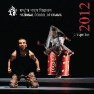 Prospectus 2012 - National School of Drama