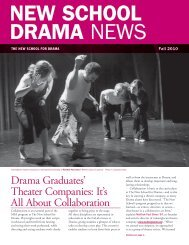 Drama Graduates' Theater Companies: It's All ... - The New School