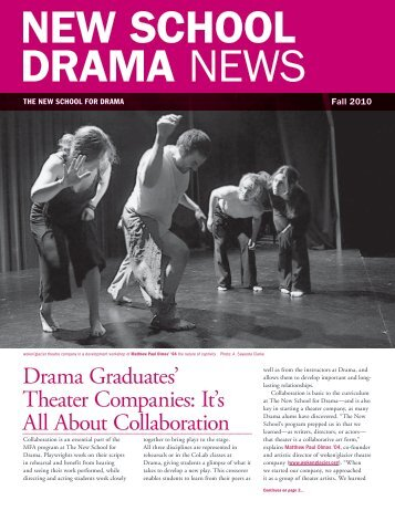 Drama Graduates' Theater Companies: It's All ... - The New School