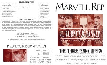 the threepenny opera - Marvell Repertory Theatre