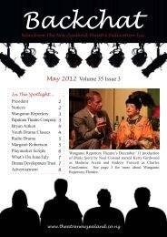 Backchat Volume 35-3 May 2012 - New Zealand Theatre Federation