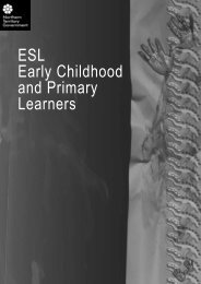 NTCF - ESL Early Childhood and Primary Learners - Department of ...