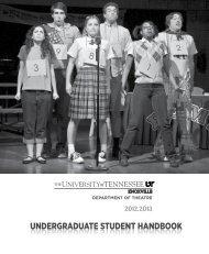 Student Handbook - UTK Department of Theatre