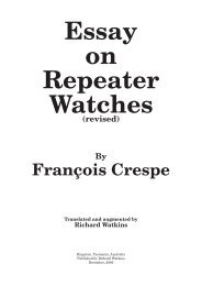 Essay on Repeater Watches - Richard Watkins Horological books