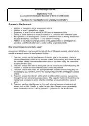 Torbay Literacy Folio 10E Explanatory Texts Assessment Criteria ...
