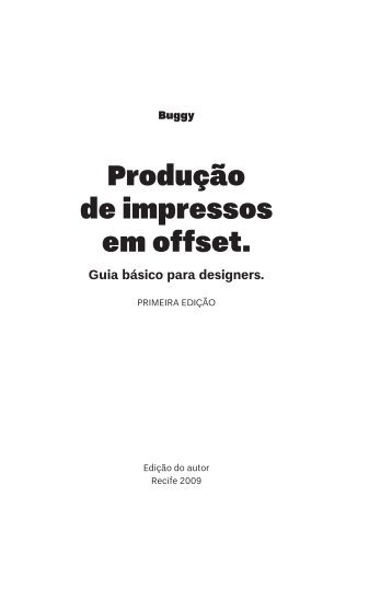 Produção de impressos em offset.
