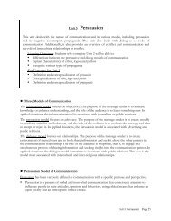 Unit 3 Persuasion - Buffalo State College Faculty and Staff Web Server