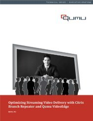 Title Optimizing Streaming Video Delivery with Citrix Branch ...