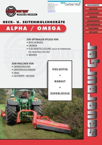 HECK- U. SEITENMULCHGERÄTE ALPHA / OMEGA - Sauerburger