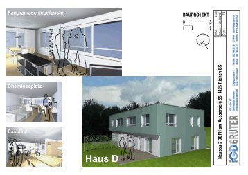 Neubau 2 DEFH am Ausserberg 55, 4125 ... - Libera-Architekten