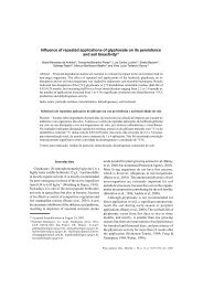 Influence of repeated applications of glyphosate on its ... - SciELO