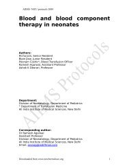 Blood and blood component therapy in neonatology - New Born Baby