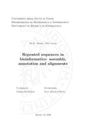 Repeated sequences in bioinformatics: assembly, annotation and ...
