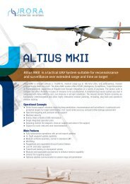 Altius MKII is a tactical UAV System suitable for reconnaissance and ...