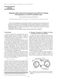 Modeling of H(n,n) Recoil Proton Injection into LWR Fuel Cladding ...