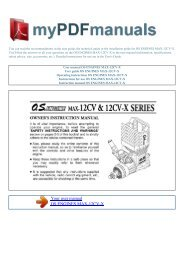 User manual OS ENGINES MAX-12CV-X - MY PDF MANUALS