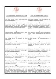 AIJA CHARTER OF THE YOUNG LAWYER The Young Lawyers of ...