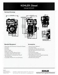 Spec Sheet - Kohler Engines