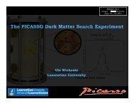 The PICASSO Dark Matter Search Experiment - medex'11 - Czech ...