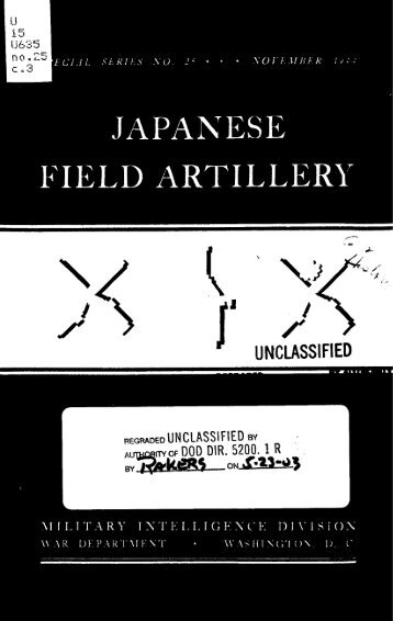 Japanese Field Artillery - US Army Combined Arms Center and Fort ...