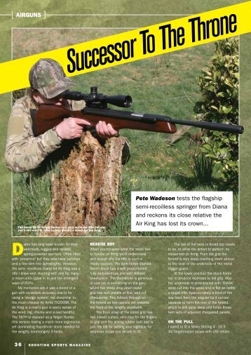[ AIRGUNS ] Pete Wadeson tests the flagship semi-recoilless ...