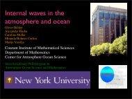 Internal waves in the atmosphere and ocean - SOEST