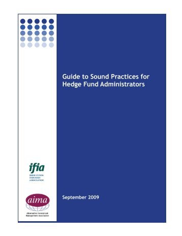 Guide to Sound Practices for Hedge Fund Administrators