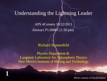 Richard Sonnenfeld - Department of Physics