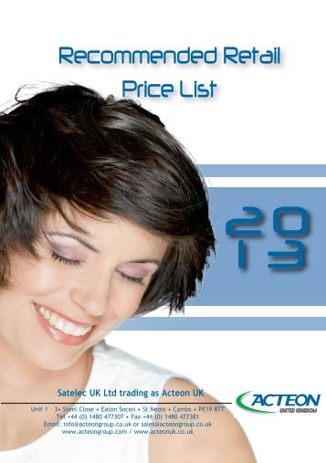 Recommended Retail Price List - PROFI - dental equipment