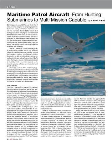 Maritime Patrol Aircraft–From Hunting Submarines to Multi Mission ...