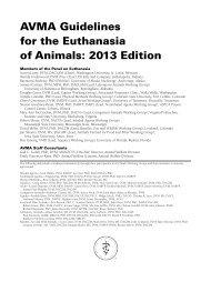 AVMA Guidelines on Euthanasia - American Veterinary Medical ...