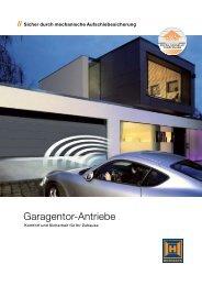 Garagentor-Antriebe SupraMatic und ProMatic - GT Torsysteme AG
