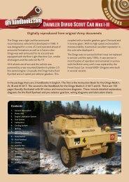 Daimler Dingo Scout Car Mks I-III - AFV Handbooks
